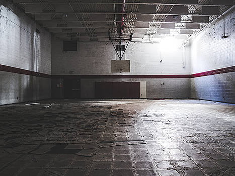 Abandoned School Gymnasium by Dylan Murphy
