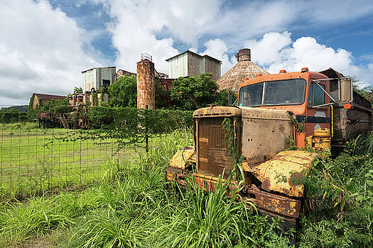 Abandoned truck by old sugar mill at Koloa Kauai by Steven Heap