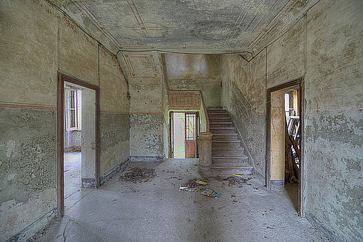 Abandoned Villa With Staircase by Enrico Pelos