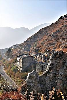 Abandoned Village - Road to Mussorie by Kim Bemis