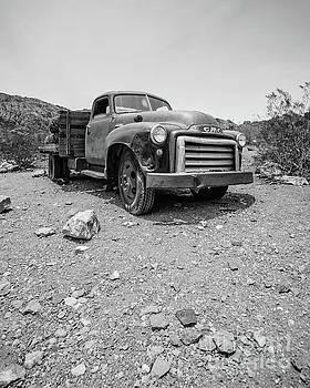 Abandoned Vintage GMC Truck in the Desert by Edward Fielding