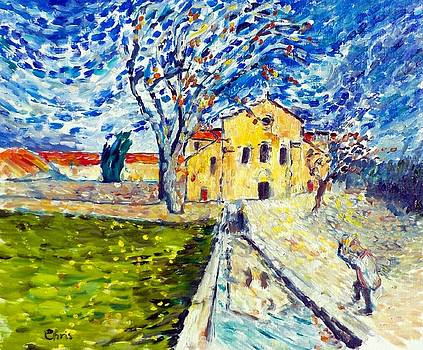 Abbaye de Silvacane after van Gogh by Chris Walker