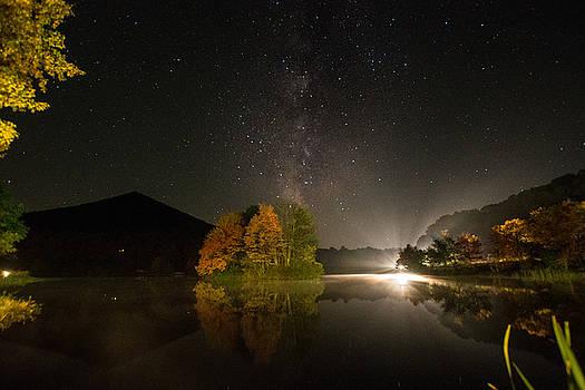 Abbott Lake Reflections by Steve Hammer