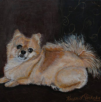 Abby the Pomeranian by Karen Dortschy