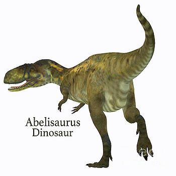 Abelisaurus Dinosaur Tail with Font by Corey Ford