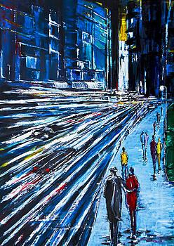 Abend in der City by Eberhard Schmidt-Dranske