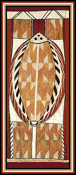 Aboriginal Bark Painting  by Vagabond Folk Art - Virginia Vivier