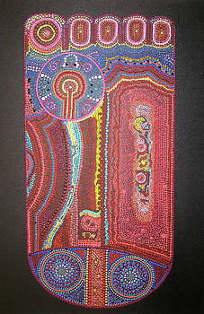 Aboriginal Dreams of Buddha Pada I by Marc Sevigny