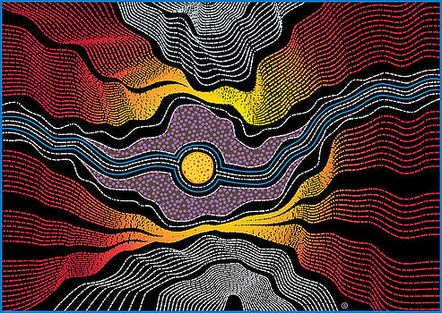 Aboriginal Landscape by Gary Grayson