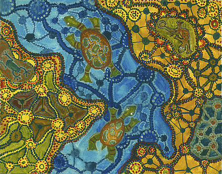 Aboriginal Turtles by Julia Collard
