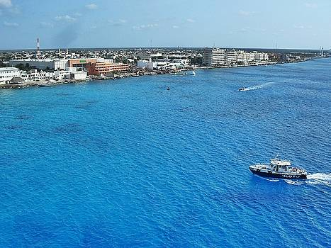 Above Cozumel Mexico  by Sheryl Chapman Photography