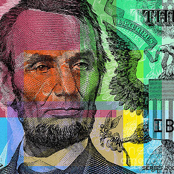 Abraham Lincoln - $5 bill by Jean luc Comperat