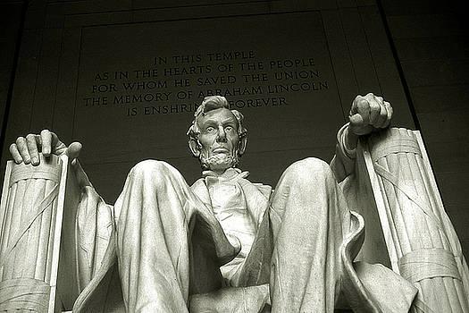 Peter Potter - Abraham Lincoln Memorial Washington - Black and White