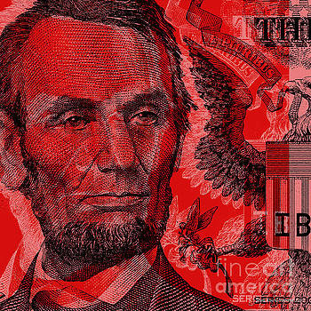Abraham Lincoln Pop Art by Jean luc Comperat