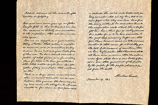 Abreham Lincoln's Gettysburg Address by Jack R Perry