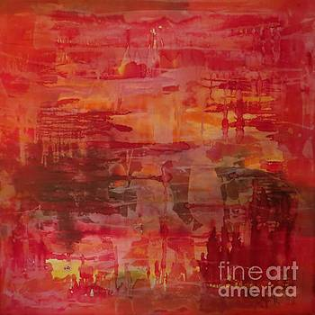 Abstrac red by Lalo Gutierrez
