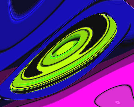 Abstract-48-Flying Saucer by Darrell Foltz