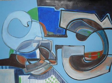 Abstract And Shapes by Therese AbouNader
