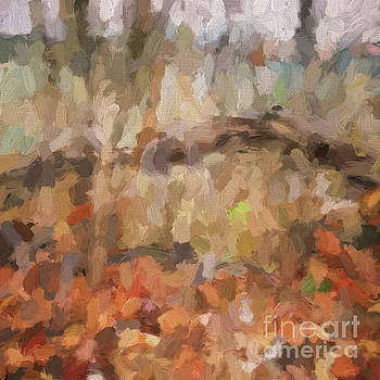 Abstract Art - The Colors of the Forest by Kerri Farley