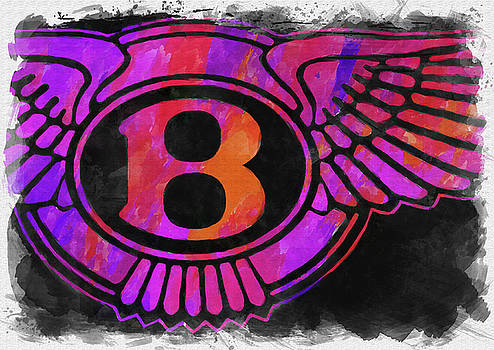 Ricky Barnard - Abstract Bentley Emblem Watercolor