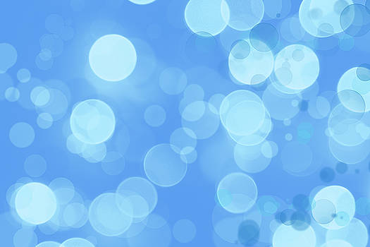 Abstract blue circles 4 by Les Cunliffe