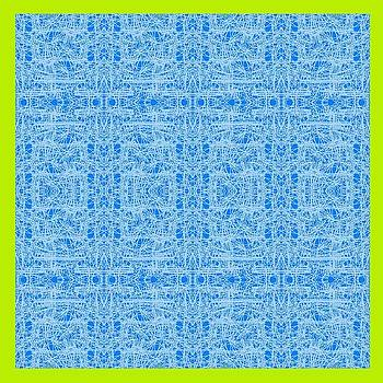 Abstract Blue Design by Mohammad Safavi naini
