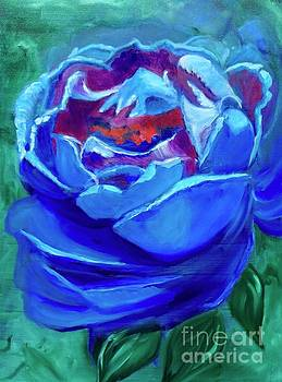 Abstract Blue Rose by Jenny Lee