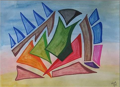 abstract Boat by Saran A N