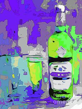 Ginette Callaway - Abstract Bottle Absinthe Modern Art