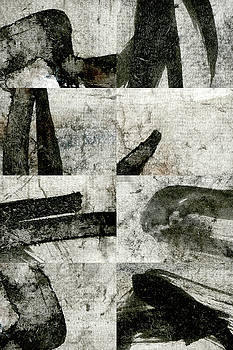 Carol Leigh - Abstract Calligraphy Collage 1