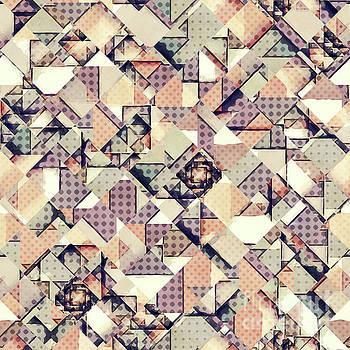 Abstract Checkered Polka Dots by Phil Perkins