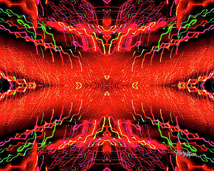 Abstract Christmas Lights #168 by Barbara Tristan
