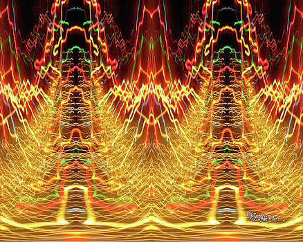Abstract Christmas Lights #175 by Barbara Tristan