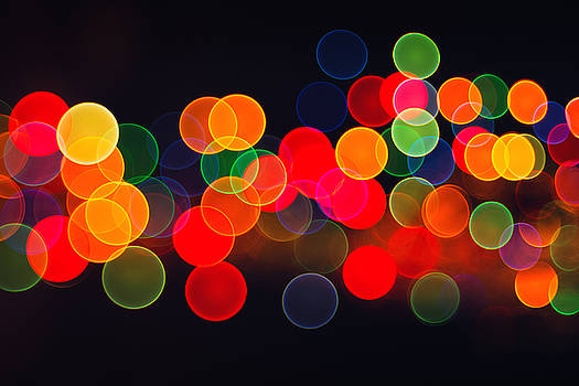 Abstract circular bokeh background of Christmaslight by Valentin Valkov