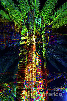 Abstract City in Green by Barbara Dudzinska