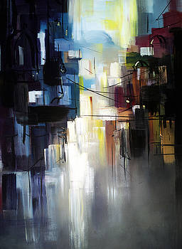 Abstract City Landscape by Zlatko Music