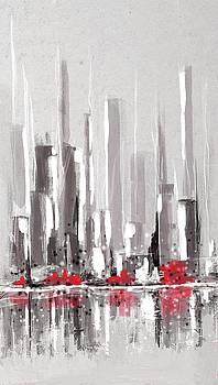 Abstract Cityscape Painting - 1 by Eduardo Tavares