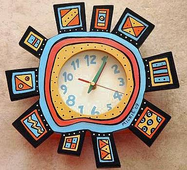 Abstract Clock by Mickie Boothroyd
