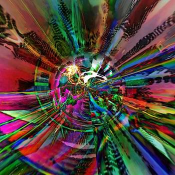 Abstract colorful vortex by Marco De Mooy