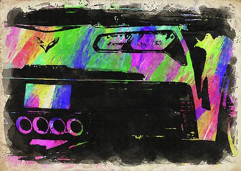 Ricky Barnard - Abstract Corvette Watercolor VII