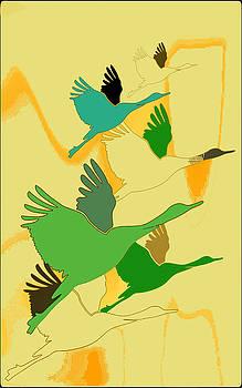 Abstract cranes by Rumiana Nikolova