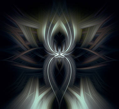 Abstract Dark Night by Diane Dugas