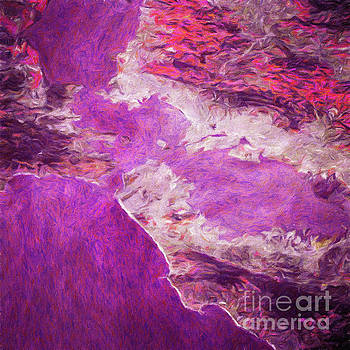 Abstract digital oil painting full of texture and bright color by Amy Cicconi