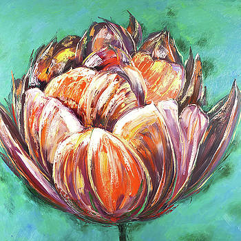 Abstract Double Tulips Flower by Atelier B Art Studio