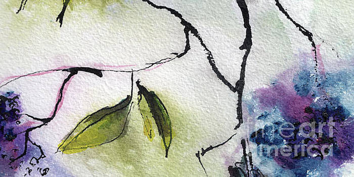 Ginette Callaway - Abstract Elder Berries 2 Watercolor and Ink