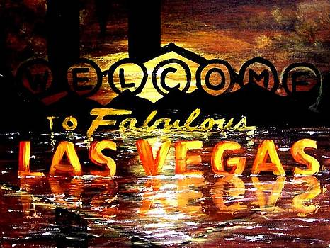 Abstract Fabulous Las Vegas Scenic Poker Art Casino Decor by Teo Alfonso