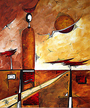 Abstract Figurative Art AFRICAN FLAME by MADART by Megan Duncanson