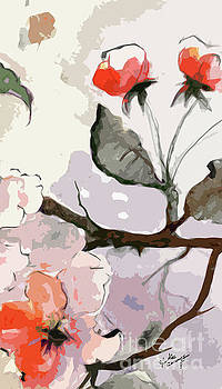 Ginette Callaway - Abstract Floral Art Pink Blossoms 2