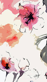 Ginette Callaway - Abstract Floral Art Pink Blossoms