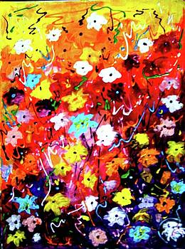 Abstract Flower Painting by Samiran Sarkar